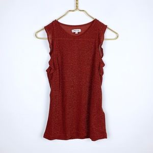 Madewell Shimmer Knit Ruffle Tank Top